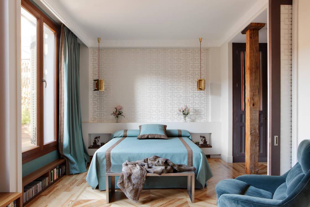 Projekty,  Sypialnia zaprojektowane przez Ines Benavides,