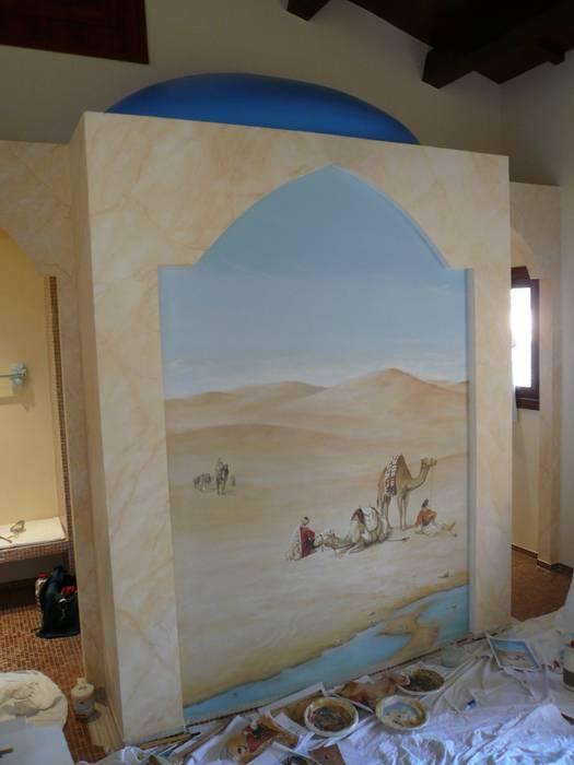 Orientalische Malerei Koloniale Badezimmer von Illusionen mit Farbe Kolonial
