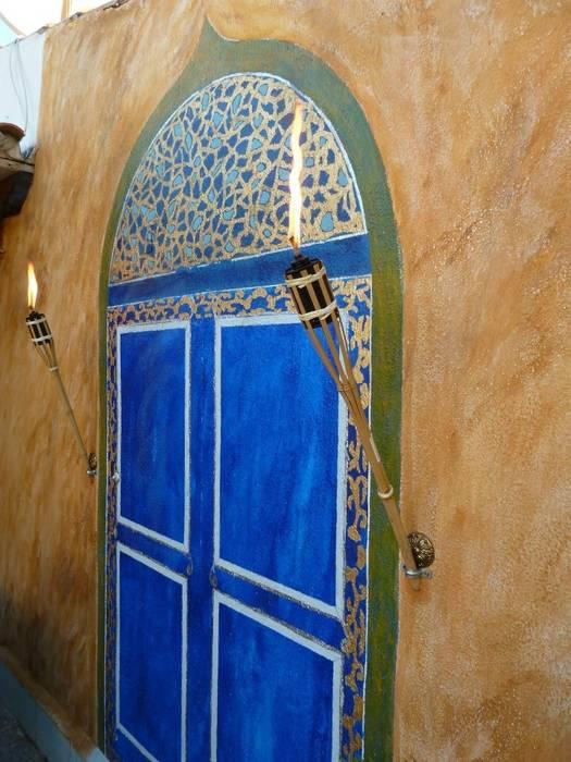 Orientalische Malerei:  Terrasse von Illusionen mit Farbe