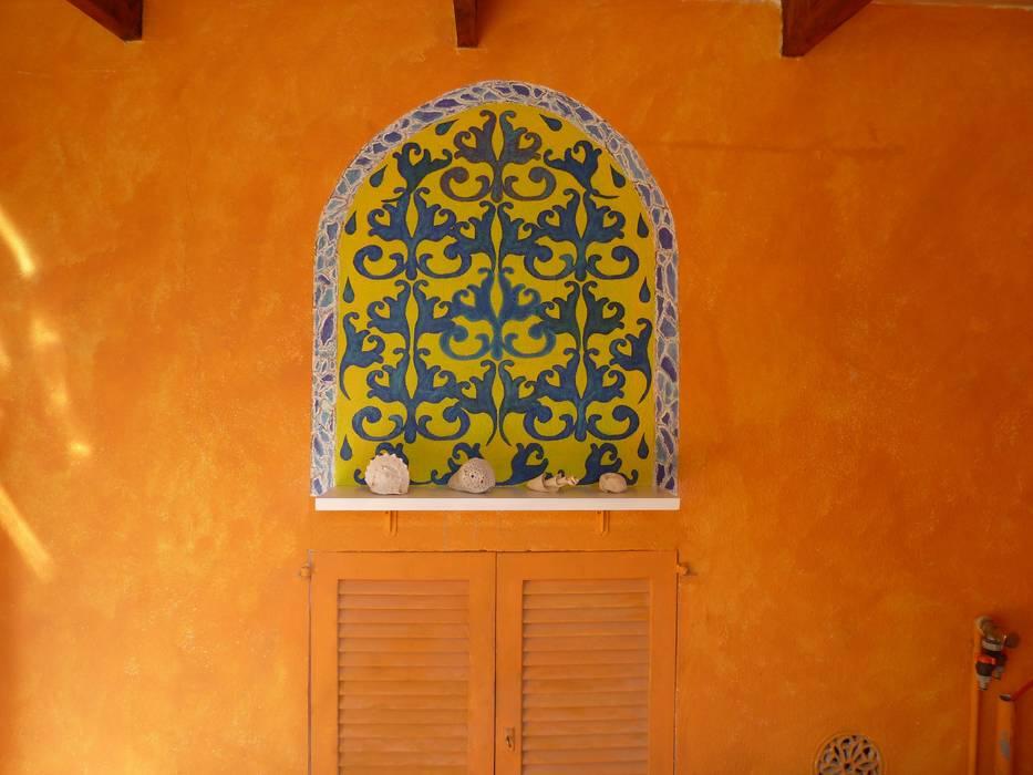 Orientalische Malerei Kolonialer Balkon, Veranda & Terrasse von Illusionen mit Farbe Kolonial