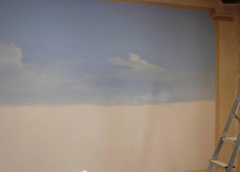 Wandmalerei  mediteraner Ausblick:  Schlafzimmer von Illusionen mit Farbe