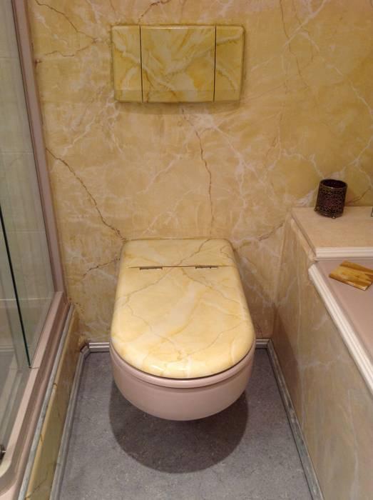 Badgestaltung Gästebad: mediterrane Badezimmer von Illusionen mit Farbe