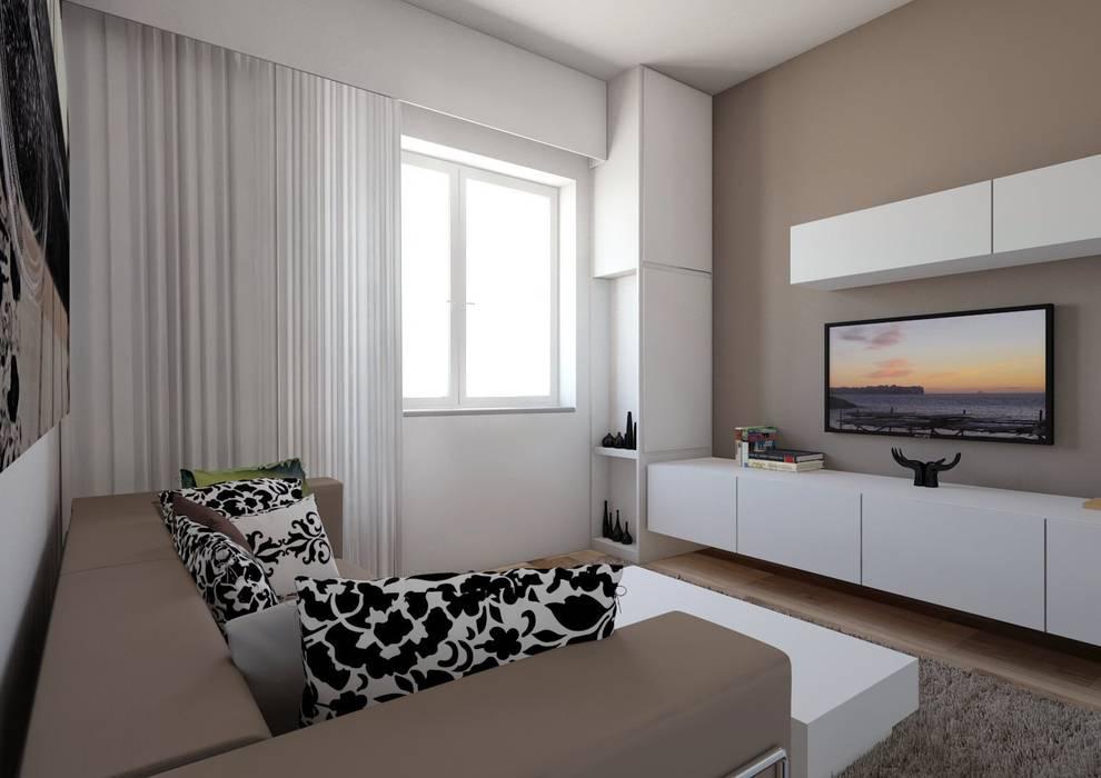 Solva Living: Soggiorno in stile in stile Moderno di elisalage