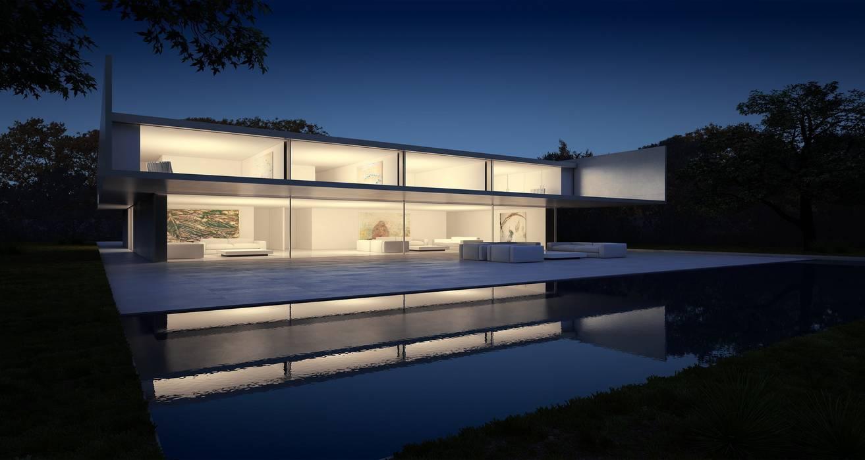 Casa de Aluminio. Fran Silvestre Arquitectos: Casas de estilo  de FRAN SILVESTRE ARQUITECTOS