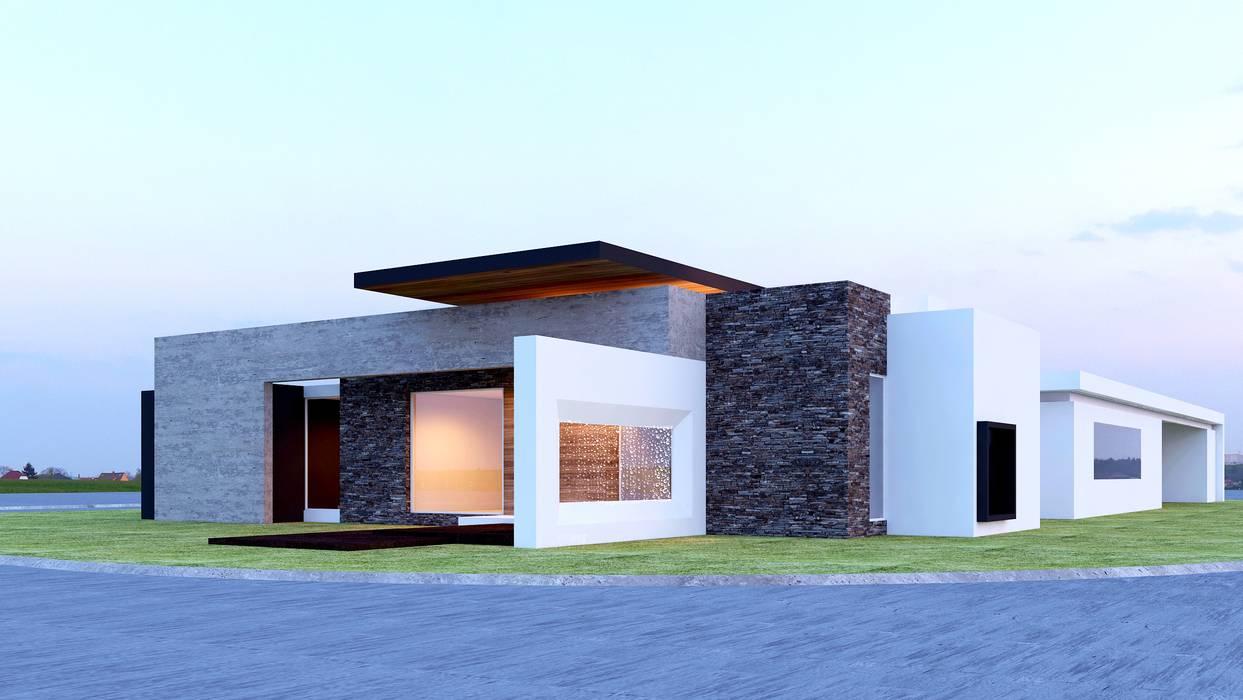 BELLEZA ABSOLUTA: Casas de estilo moderno por SYD CONSTRUCTORES