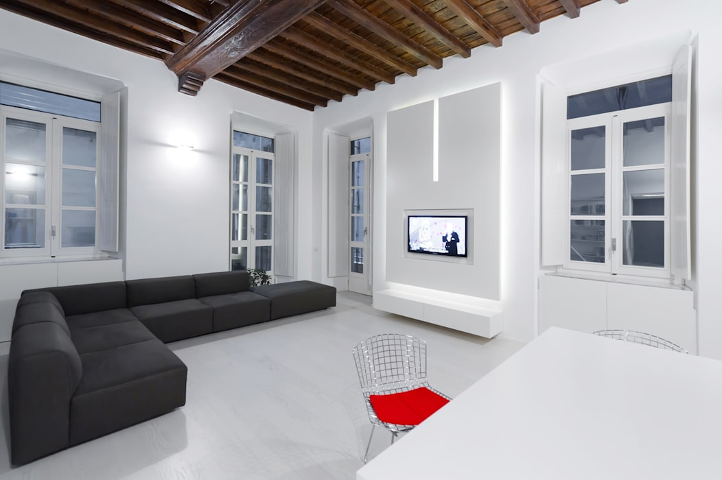 U:BA house Living room design ideas by Comoglio Architetti