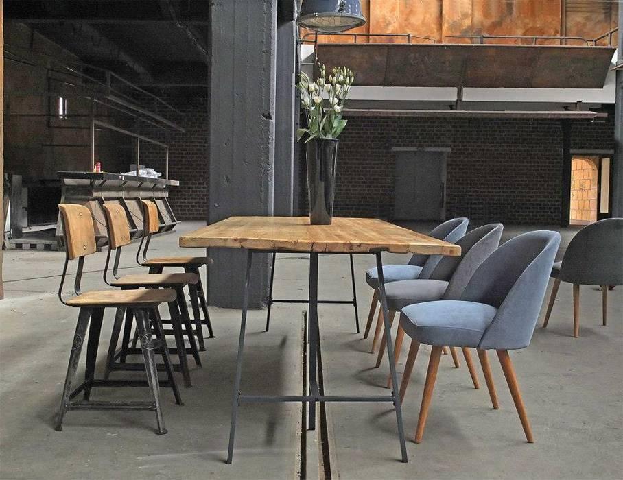 Industrial style dining room by works berlin Industrial