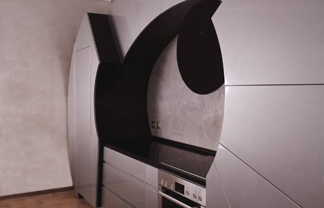 Cocinas con Curvatura como Diseño Innovador por Cucine Cassandra: Cocinas de estilo moderno de Decoration Digest blog