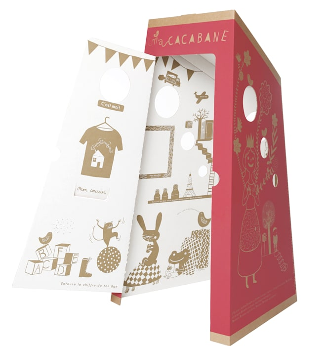 Une cabane à jouer: Chambre d'enfant de style de style eclectique par PIROUETTE CACAHOUÈTE