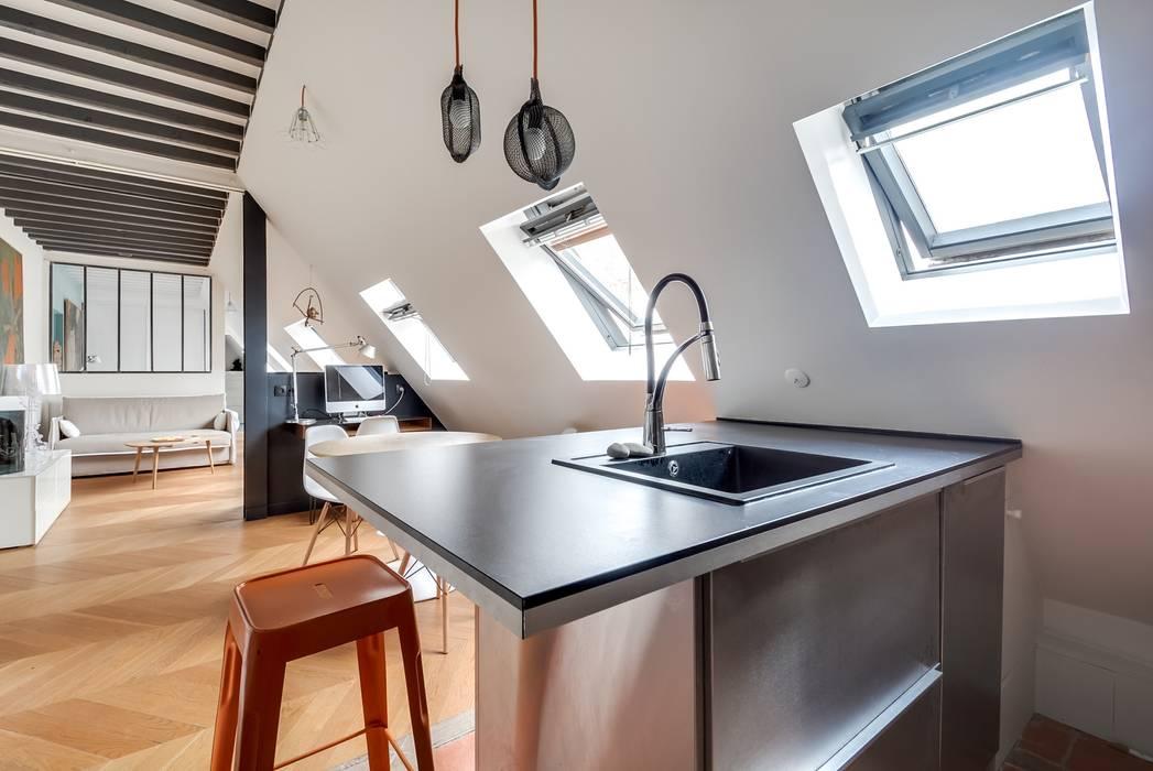 Appartement paris Cuisine moderne par Meero Moderne
