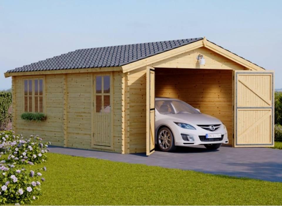 Garajes y galpones de estilo escandinavo de Pineca Group Escandinavo