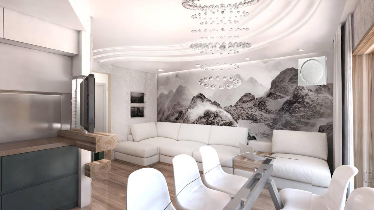 Salas de estar minimalistas por Студия Маликова Minimalista