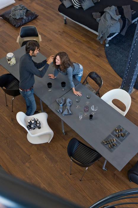 Loft Sucre Estudios y despachos de estilo industrial de BARASONA Diseño y Comunicacion Industrial