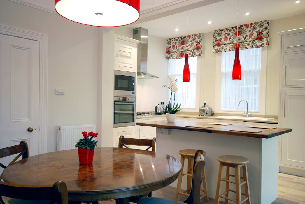 Creatio of open plan kitchen Modern dining room by Emmanuelle Lemoine Interiors Modern