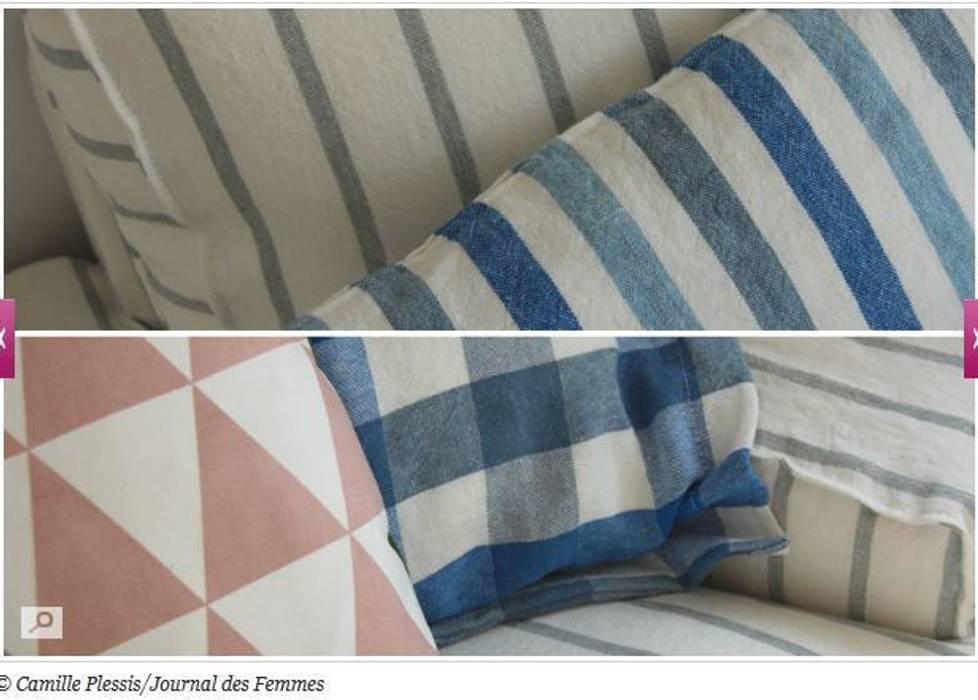 Housses Bemz pour canapé Ikea: Salon de style  par La Decorruptible