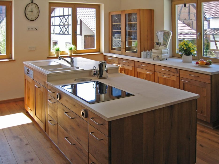 naturliche kuche aus altholz eiche rustikale kuche von lignum