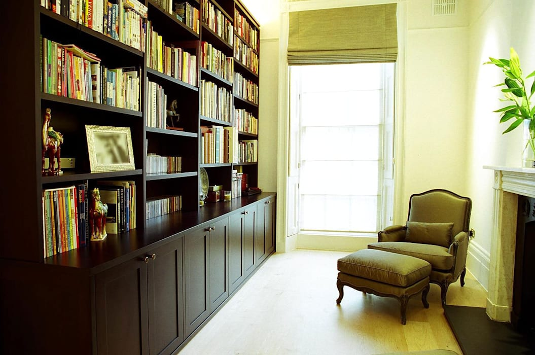 Mayfair Colonial style study/office by Gregory Phillips Architects Colonial