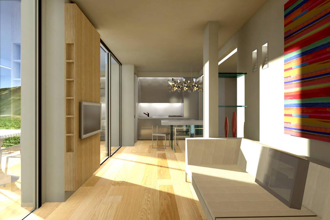 ambienti di qualità in piccoli spazi Soggiorno moderno di Giussani Patrizia Moderno
