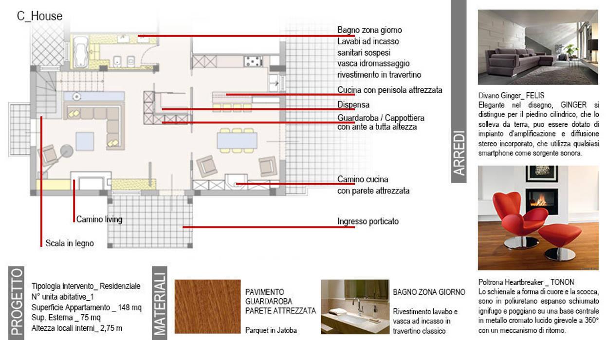 Pareti Attrezzate Con Camino Incorporato modern houses by ag interior design modern | homify