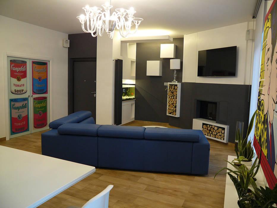 Living room by d2w studio,