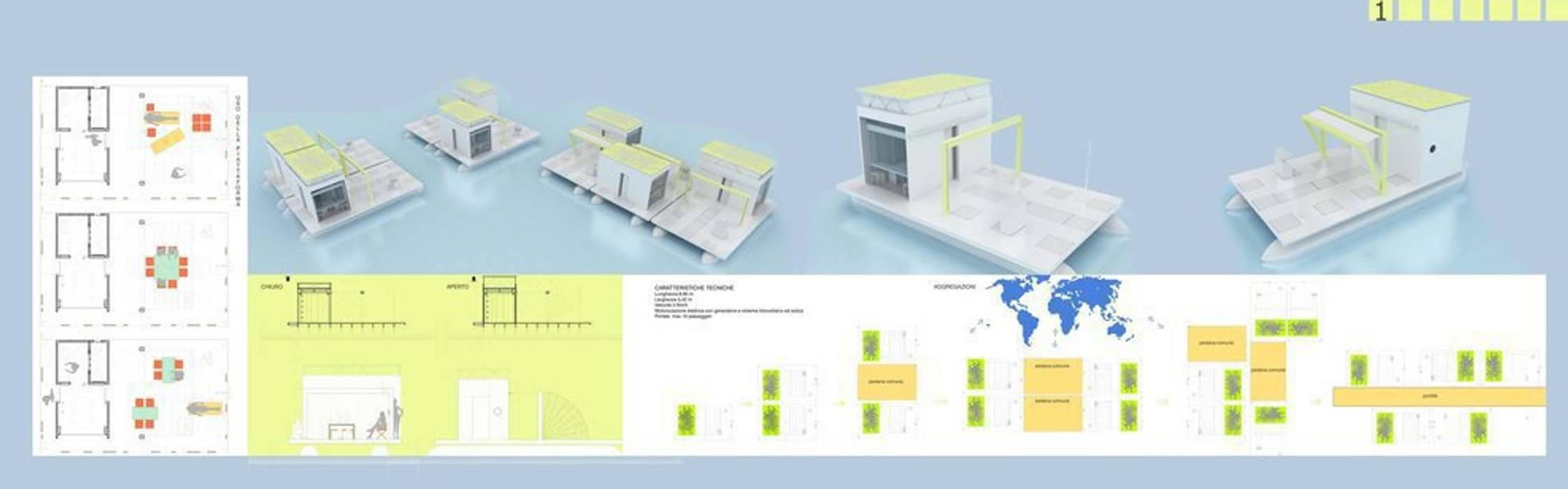 Casas de estilo ecléctico de studioLO architetti Ecléctico