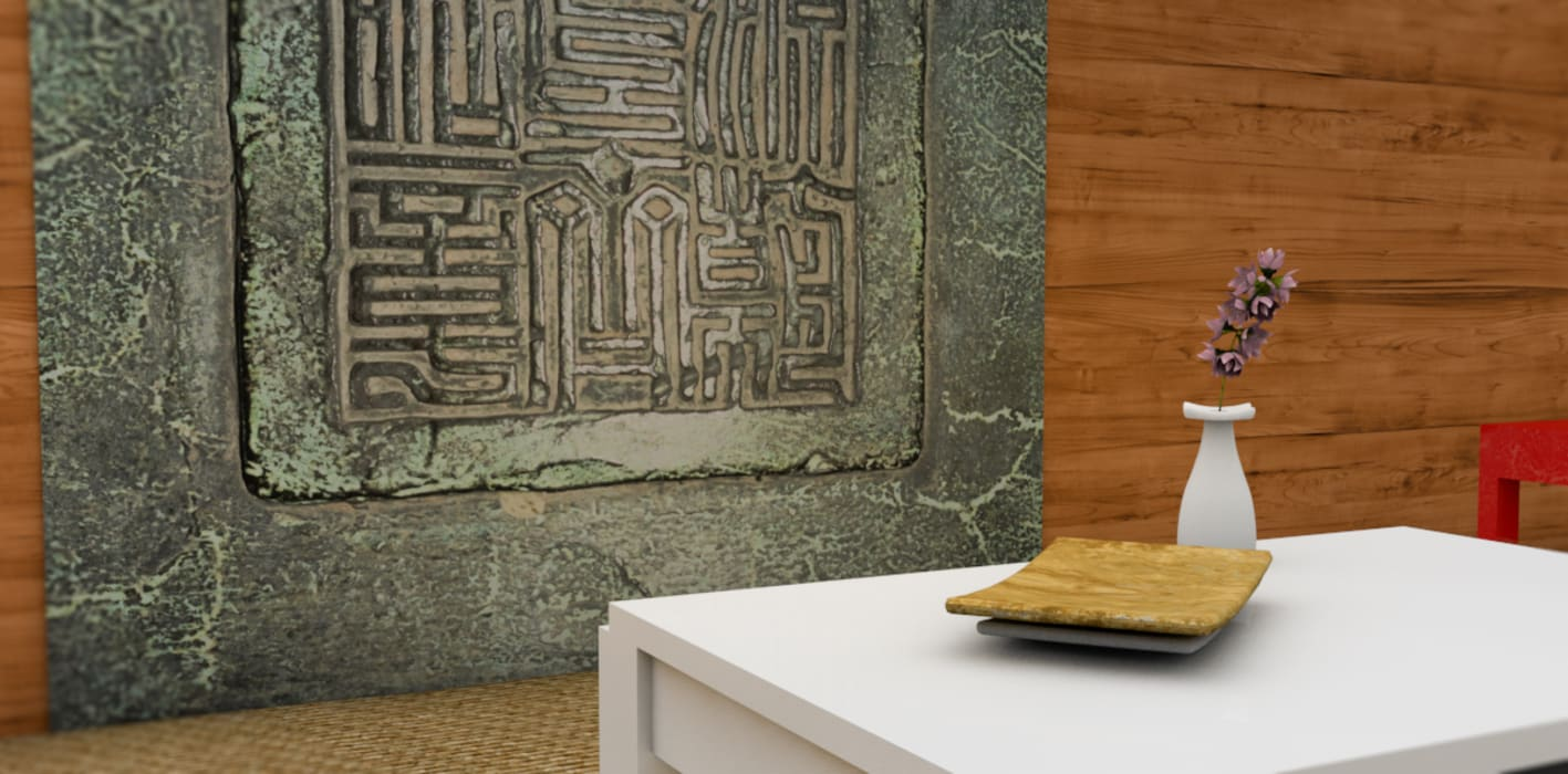 Tapisserie motifs Japonnais: Locaux commerciaux & Magasins de style  par YEDA