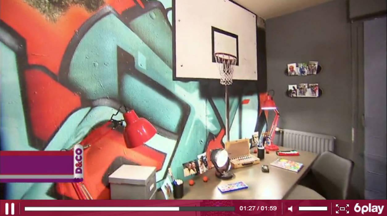 Toile textile murale Yeda sur M6 D&CO: Chambre de style  par YEDA