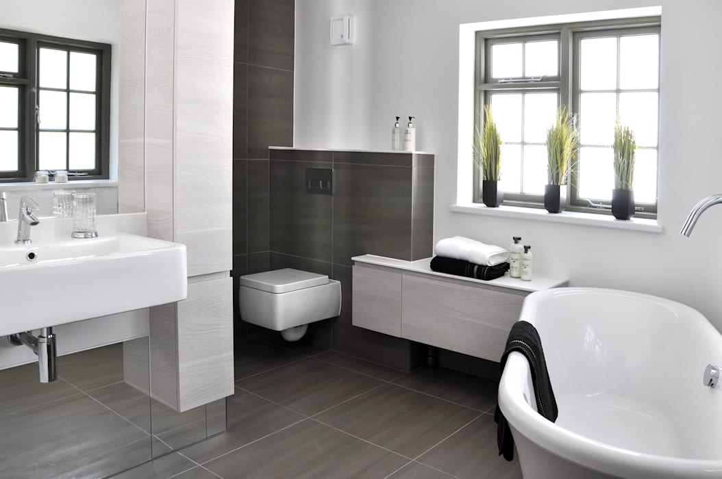 Modern En Suite Design homify Modern Bathroom