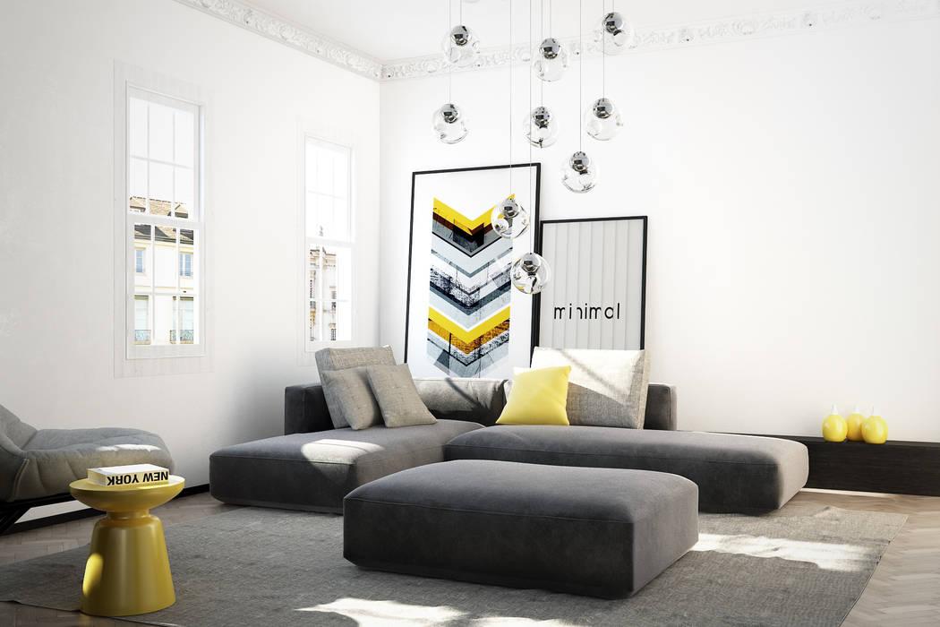 Shoreditch Apartment 2 Salon moderne par YAM Studios Moderne