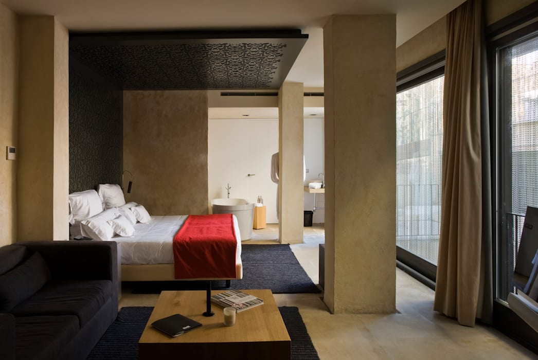Hotel EME in Seville, Spain Eclectic style bedroom by Donaire Arquitectos Eclectic