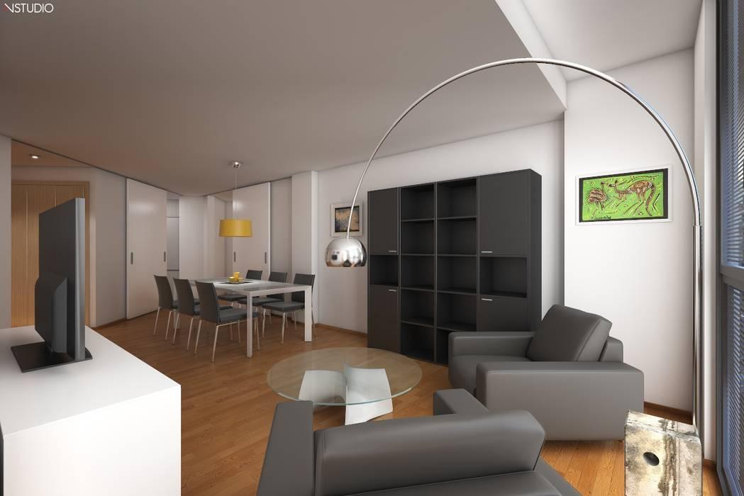 Comedor NSTUDIO Casas estilo moderno: ideas, arquitectura e imágenes