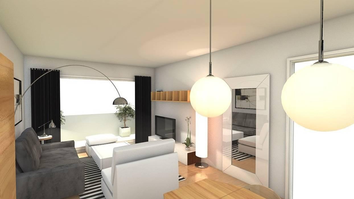 proyecto decoración de salón Casas de estilo moderno de Tatiana Doria, Diseño de interiores Moderno