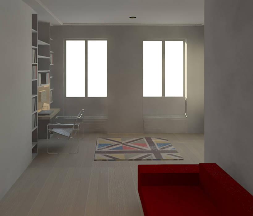www.karineperez.com Chambre d'enfant moderne par Agence KP Moderne Lin Rose