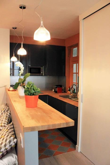 Dapur Modern Oleh Agence KP Modern Kayu Wood effect