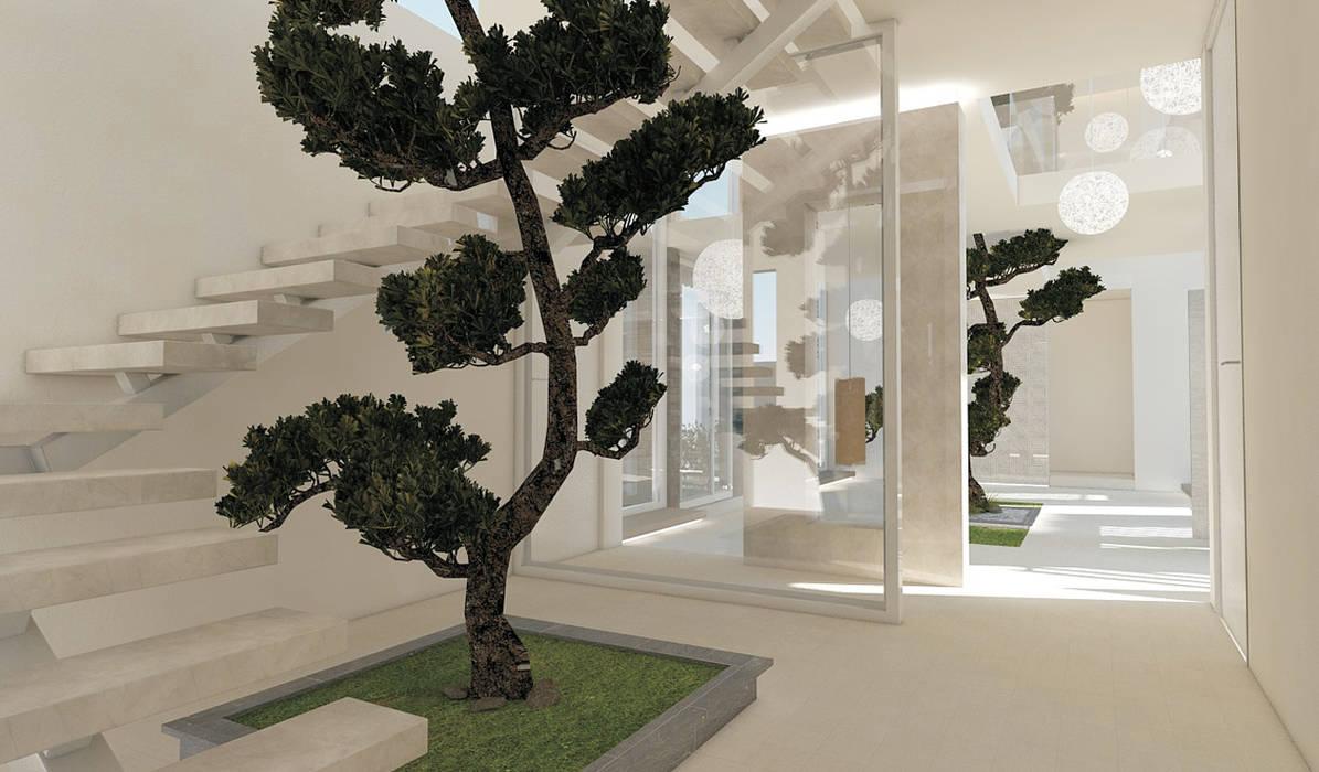Residenza Privata in New Delhi Ingresso, Corridoio & Scale in stile moderno di Barbara Pizzi Moderno