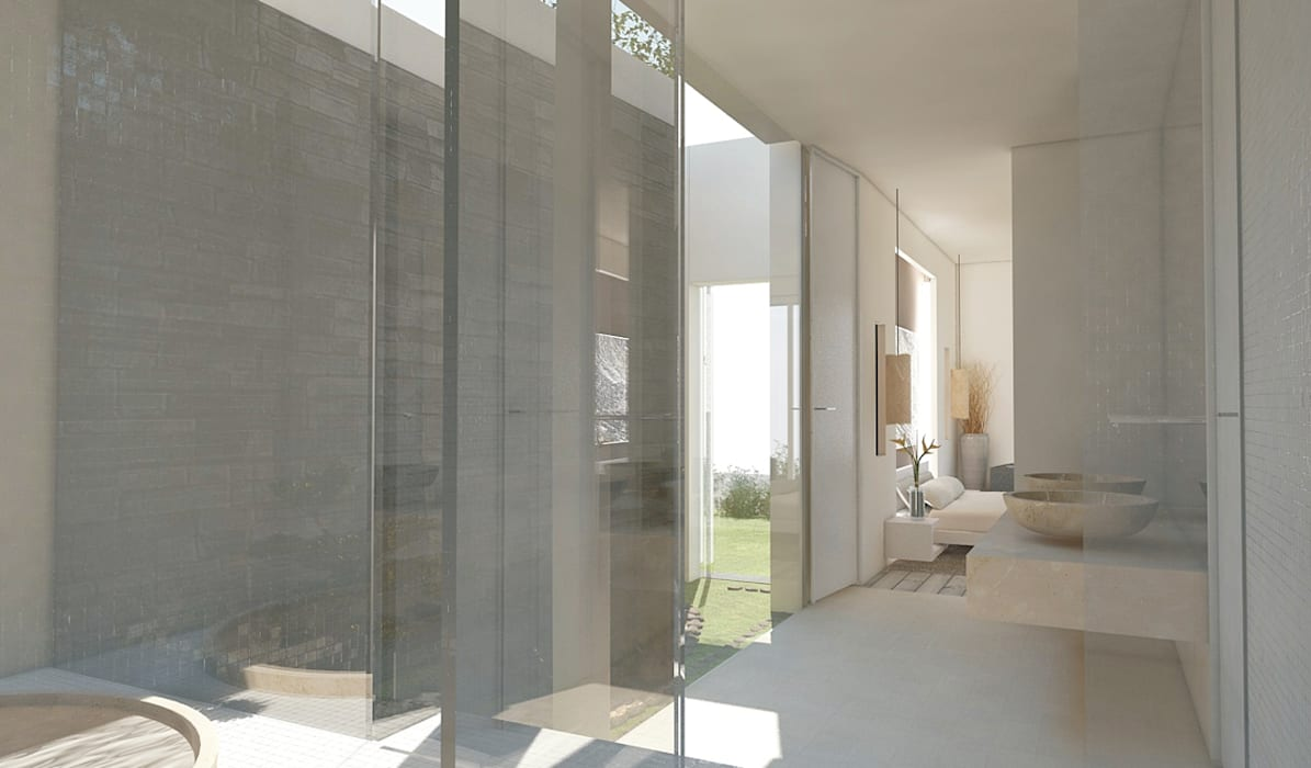 Residenza Privata in New Delhi: Bagno in stile  di Barbara Pizzi