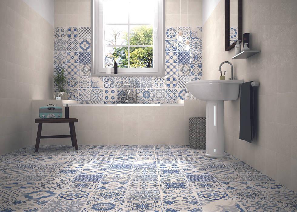 Skyros wall and floor tiles homify 牆壁與地板磁磚