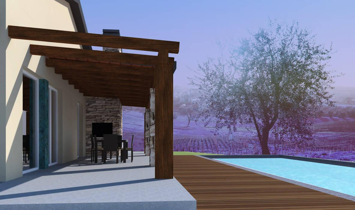 Casa colle di fuori: Case in stile in stile Mediterraneo di CAFElab studio