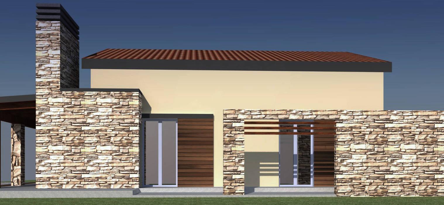 Casa colle di fuori : Case in stile in stile Mediterraneo di CAFElab studio