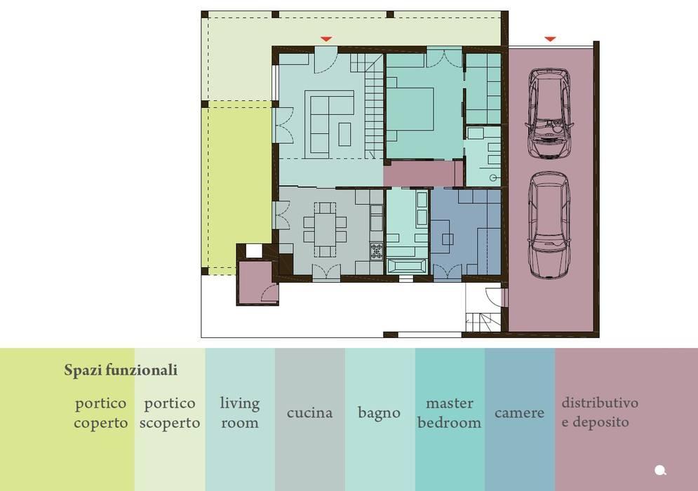 Casa colle di fuori: Case in stile  di CAFElab studio