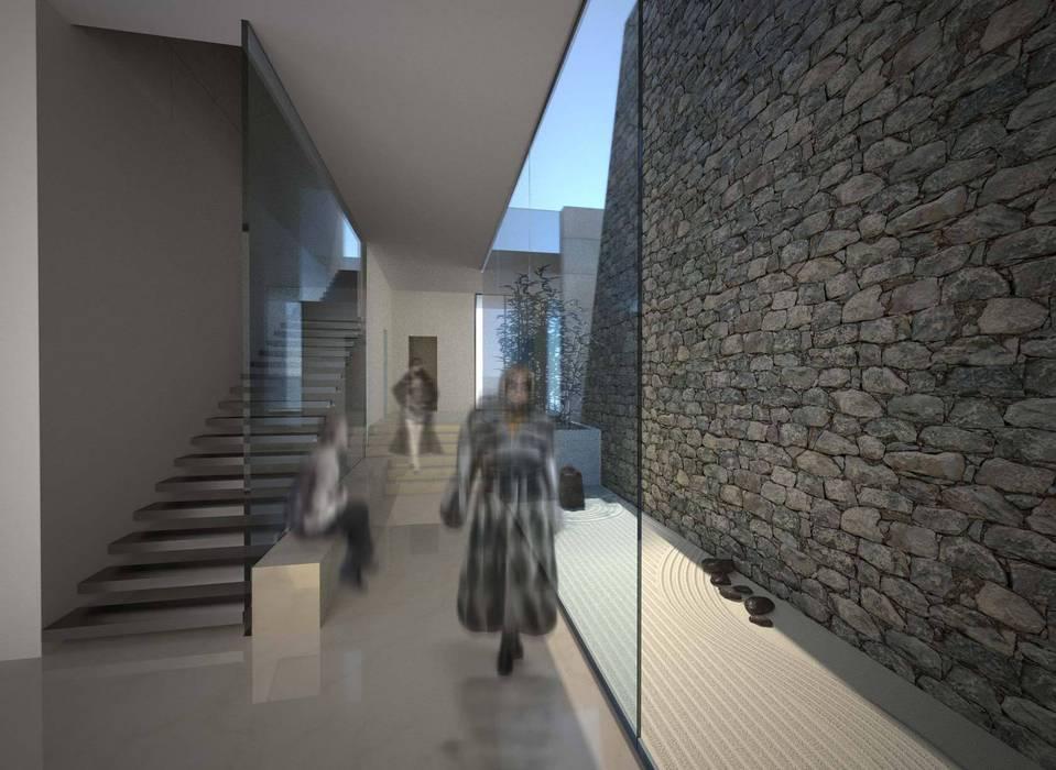 Mongolian Dream House Ingresso, Corridoio & Scale in stile moderno di CAFElab studio Moderno