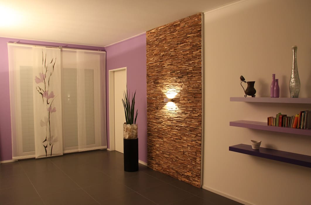wandverkleidung aus holz wohnzimmer von bs holzdesign. Black Bedroom Furniture Sets. Home Design Ideas