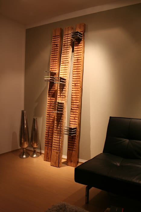 woodesign Christoph Weißer ห้องนั่งเล่นชั้นวางของ