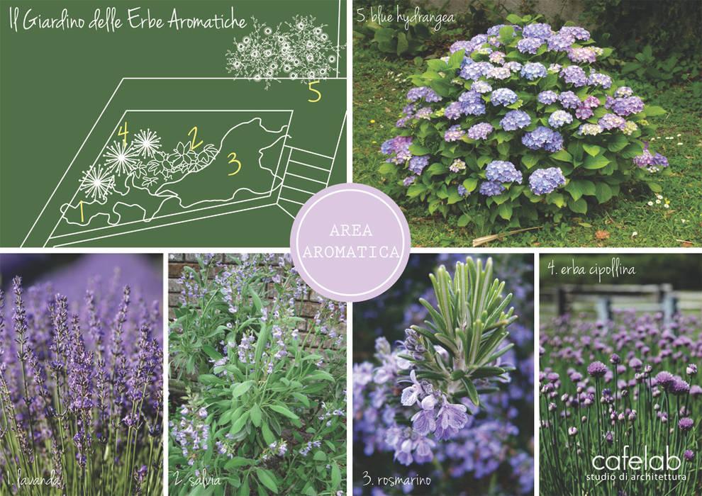Un giardino in blu: Giardino in stile  di CAFElab studio