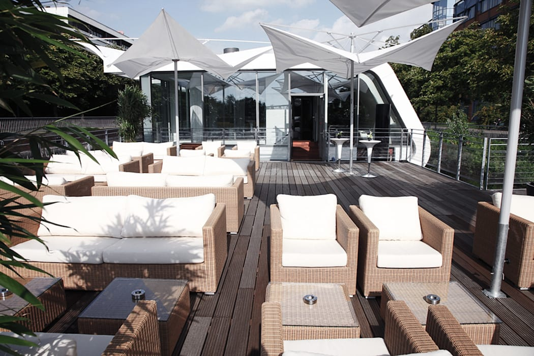 Schwimmende Terrasse - Floating Homes C-Type Ausgefallene Gastronomie von FLOATING HOMES Ausgefallen