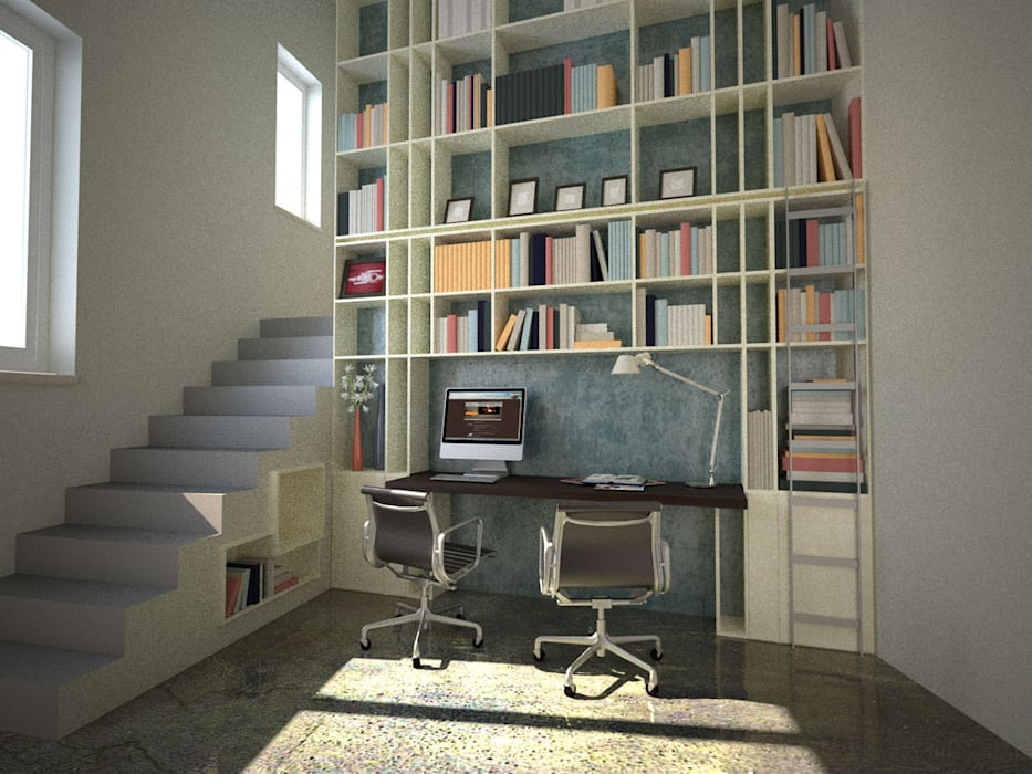 Recupero di un palazzetto terra cielo: Studio in stile  di CAFElab studio