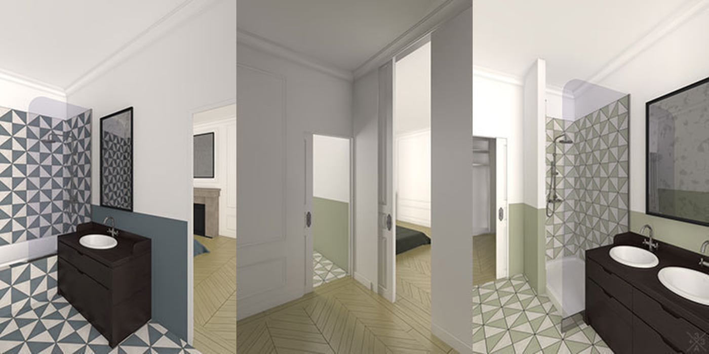 Rénovation Appartement Haussmannien - Champ de Mars Cuisine moderne par +33architectes Moderne