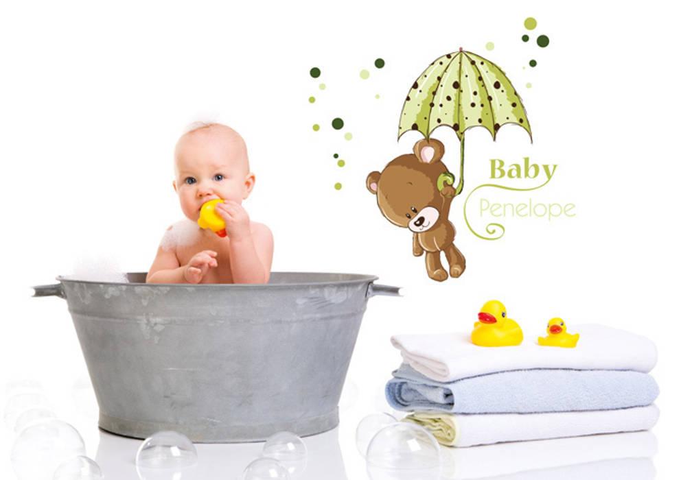 Wandtattoo + name baby grün: kinderzimmer von k&l wall art | homify