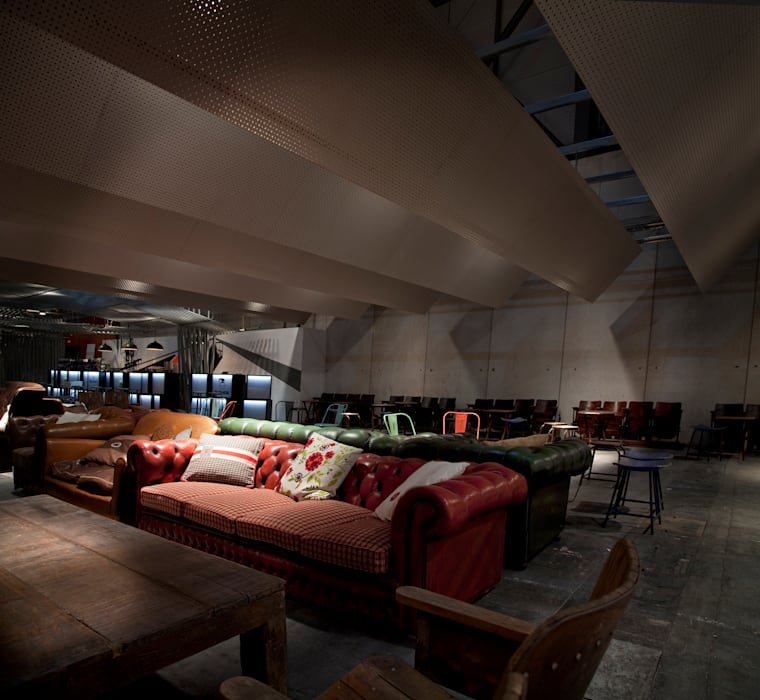 Lounge Sala VIP ARCOmadrid 2013 Salones de estilo industrial de Q:NØ Arquitectos Industrial