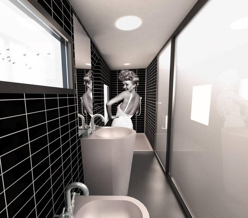 Baño VPO (VMEJÓ): Baños de estilo  de Q:NØ Arquitectos